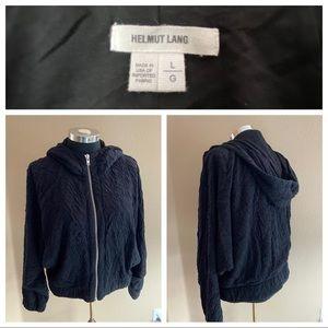 Helmut Lang Hoodie Sweatshirt Textured Dolman L